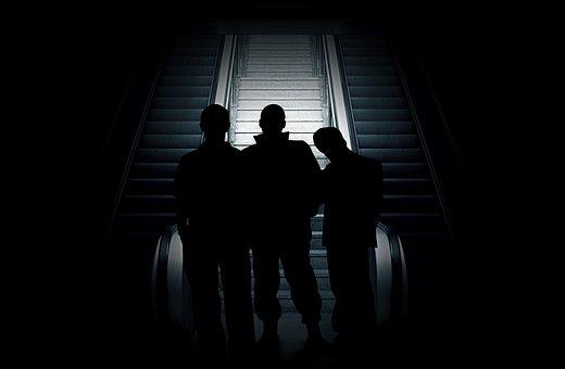 Group, Violent, Human, Man, Silhouette, Shadow, Light