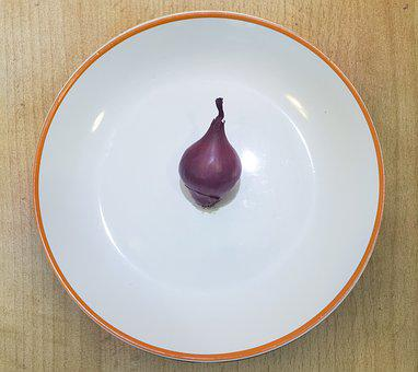 Onion, Plate, Preparation Of The, Food, Covering