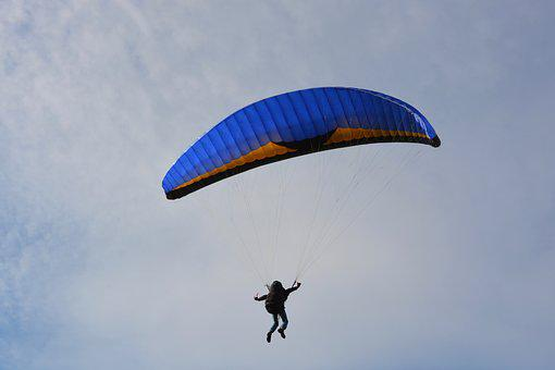 Paragliding, Sailing, Wing Blue, Paraglider