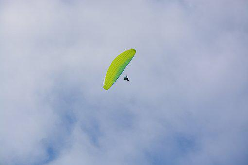 Paragliding, View Paragliding And Sky, Free Flight