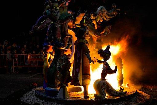 Flame, Art, People, Gandia, Failures, Fire