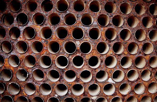 Steel, Iron, Industry, Pattern, Pipe, Form, Round