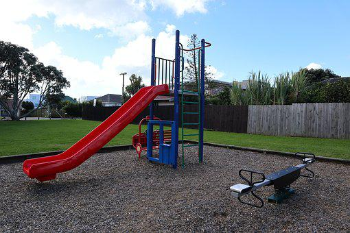 Playground, Slide, Outdoors, Grass, Leisure, Summer