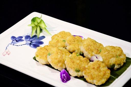 Food, Handmade Shrimp Cake, Restaurant Dish