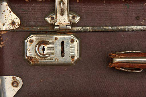 Lock, Old, Retro, Security, Vintage, Case, Suitcase