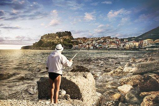 Waters, Sea, Beach, Travel, Costa, Fisherman, Fishing