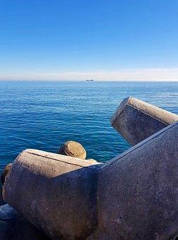 Sea, Outdoors, Ship, Port, Sky, Wave
