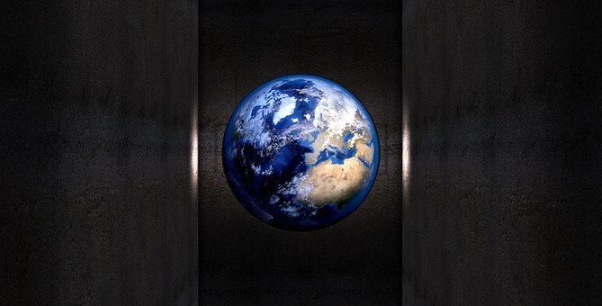 Earth, Planet, Ball, Wall, Shaft, Structure, Light