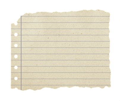 Shabby Paper, Block, Torn Leaf, Writing Block, Torn Off