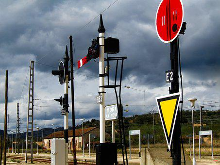 Traffic Signals, Signs, Signals, Traffic, Train