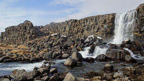 Water, Nature, Landscape, Rock, Travel, Foss, Iceland