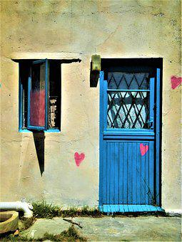 Door, Home, Architecture, Window, Input, Heart