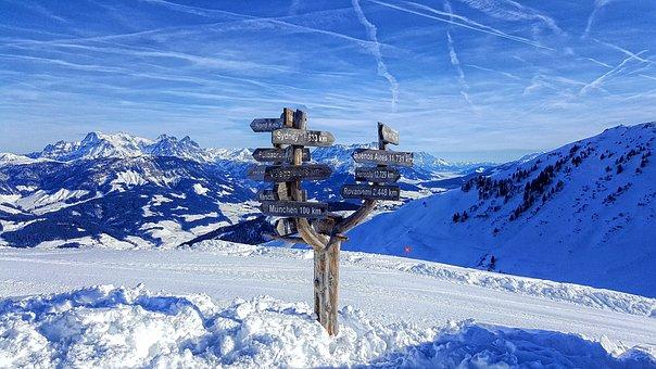 Sankt Johann In Tirol, Tyrol, Winter, Wintry, Skiing