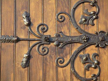 Door, Angel, Close, Handle, Wood, Input, Ornament