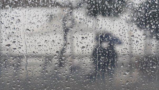 Abstract, Rainy Day, Umbrella, Raindrops, This Type