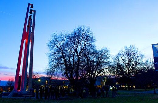 Outdoors, Bells, Evening, College, Light