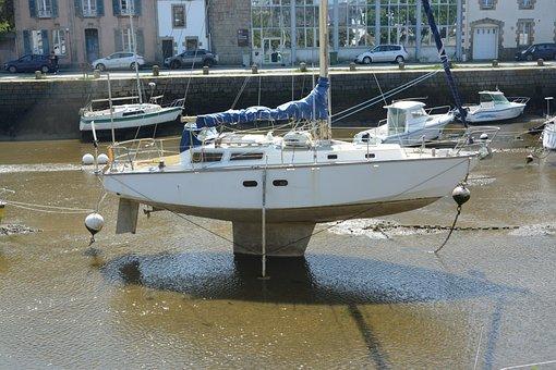 Sailing On Keel, Sailboat, Boat, Water