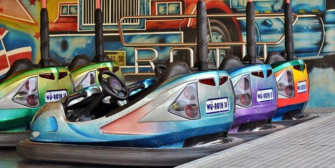 Bumper Cars, Ride, Fair, Folk Festival, Year Market