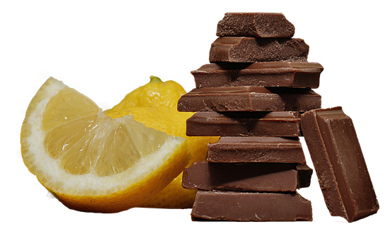 Chocolate, Lemon, Isolated, Delicious, Sweet, Fruit