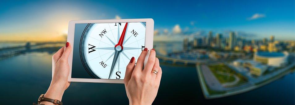 Compass, Orientation, Direction, City, Success