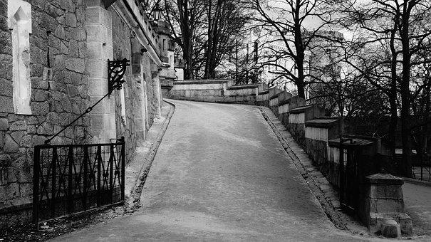 Black And White, Gate, Check, Spring, Czech Republic