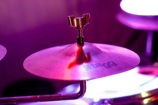 Battery, Saucer, Music, Drummer, Drumsticks, Silhouette