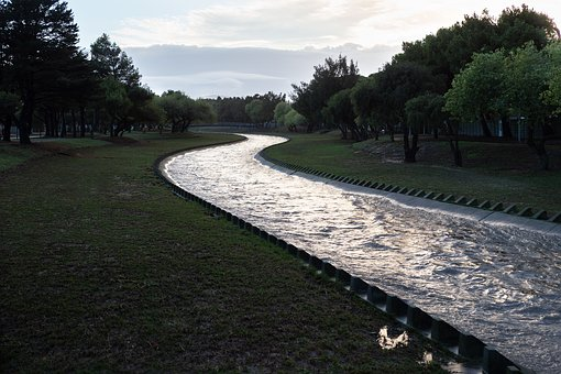 Elsieskraal River Canal, River, Water, After Rain, Park