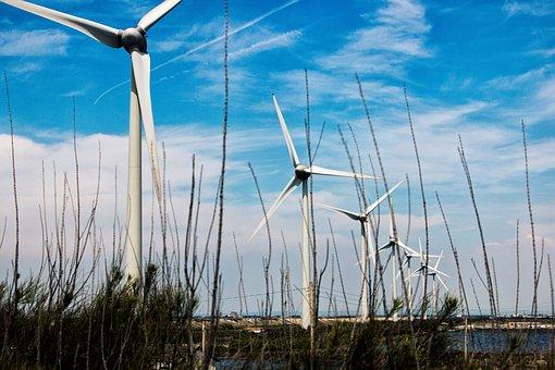 Wind, Windmill, Turbine Engine, Electricity, Energy