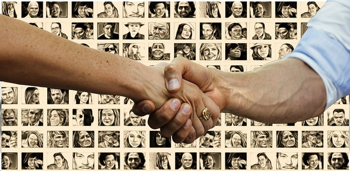 Hands, Group, Personal, Faces, Businessmen, Team