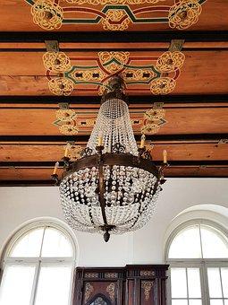 Home, Art Nouveau, Music Room, Chandelier, Glass
