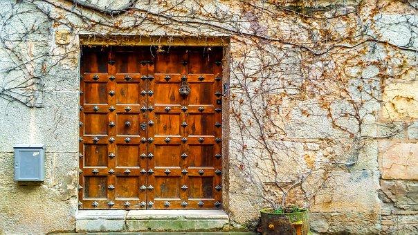 Door, Portal, House, Wall, Facade, Old, Architecture