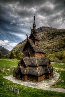 Old Church, Religion, Building, Borgund, Norway