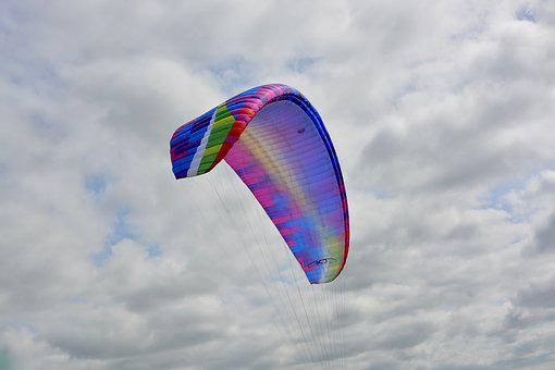 Paraglider Wing, Sailing, Wing Multicolor, Paraglider