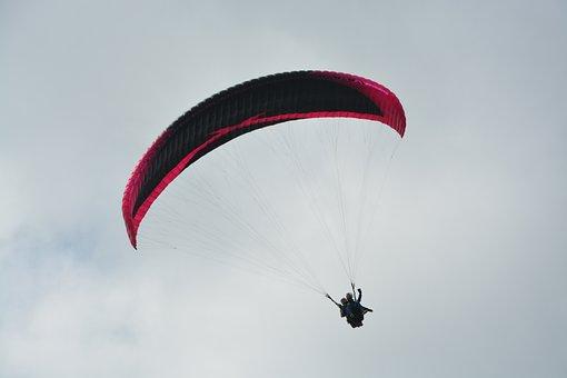 Paragliding Bi-place, Paragliding, Two Harnesses