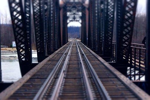 Bridge, Sky, Steel, Expression, Industry, Talkeetna