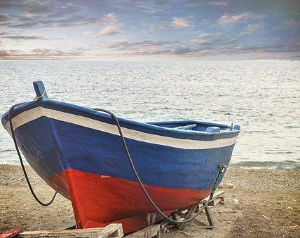 Sea, Waters, Beach, Costa, Boat, Summer, Boats, Water