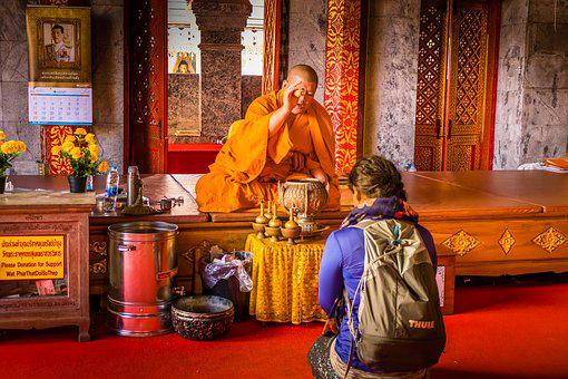 Religion, Buddha, Monk, Temple, Spirituality