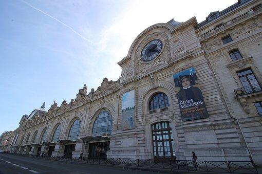Architecture, Travel, Museum, Paris, Tourism, Clock
