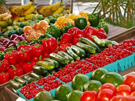 Market, Food, Fruit, Supermarket, Pepper, Vegetable