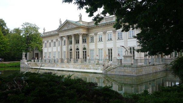 Architecture, Building, Lazienki Palace, Warsaw