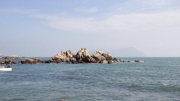 Waters, Sea, Nature, Sky, Rock, Shenzhen