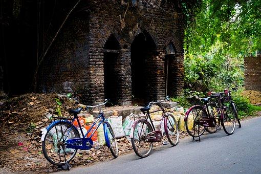 Wheel, Bike, Street, Road, Wood, Outdoors, Urban