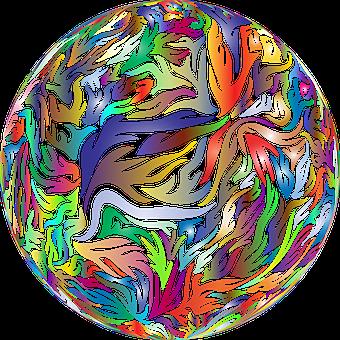 Sphere, Ball, Orb, Abstract, Geometric, Art, Flames