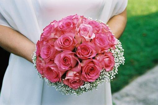 Flower, Bouquet, Wedding, Bride, Love