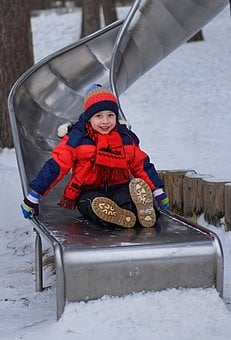 Winter, Snow, Coldly, Boy, Jacket, One, Baby, Fun