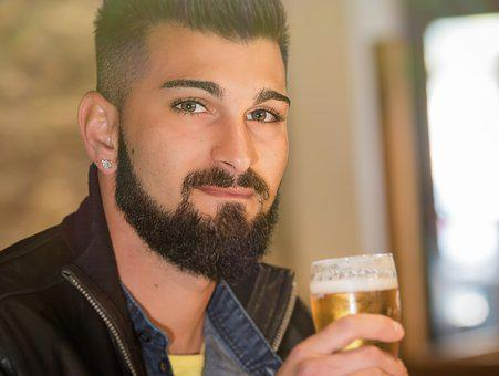 Portrait, Adult, One, Male, People, Beer, Celebration