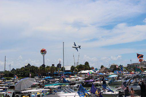 City, Travel, Tourism, Outdoors, Harbor, Blue Angels