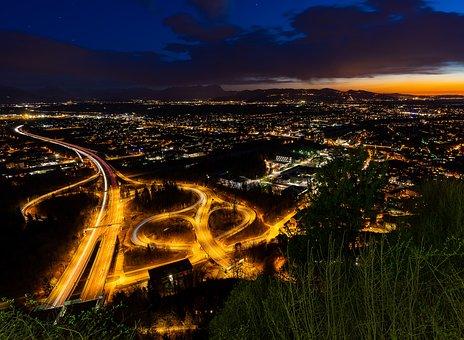 Dusk, Travel, Sky, Nature, City, Night Photograph