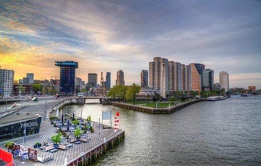 Rotterdam, Netherlands, City, Architecture, Panoramic