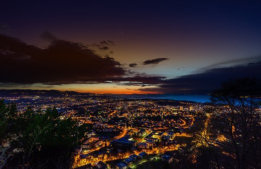 Sunset, Panorama, Waters, Dusk, Travel, Sky, Nature
